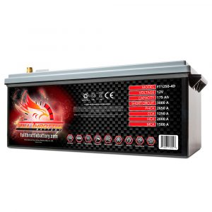 Full Throttle Series AGM Battery - FT1250-4DLT