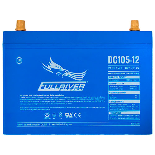 Fullriver DC Series AGM Battery - DC105-12