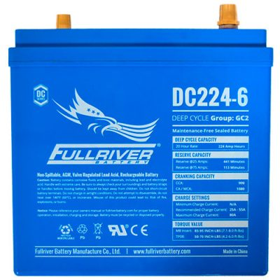 Fullriver DC Series AGM Battery - DC224-6