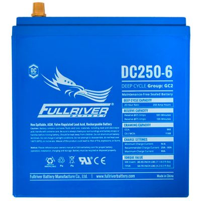 Fullriver DC Series AGM Battery - DC250-6