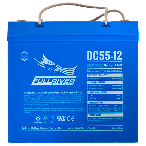 Fullriver DC Series AGM Battery - DC55-12