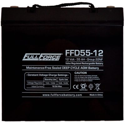 Full Force Series AGM Battery - FFD55-12