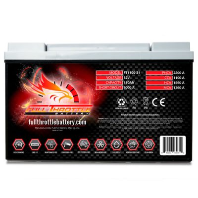Full Throttle Series AGM Battery - FT1100-31