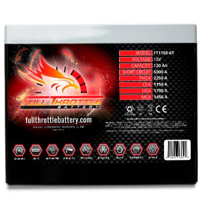 Full Throttle Series AGM Battery - FT1150-6T