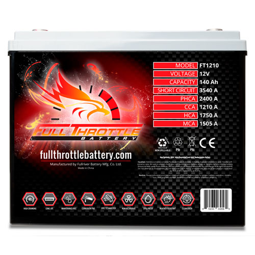 Full Throttle Series AGM Battery - FT1210