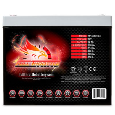 Full Throttle Series AGM Battery - FT16V830-24