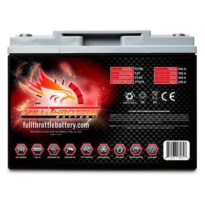 Full Throttle Series AGM Battery - FT185