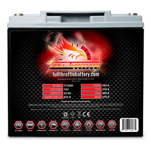 Full Throttle Series AGM Battery - FT230D