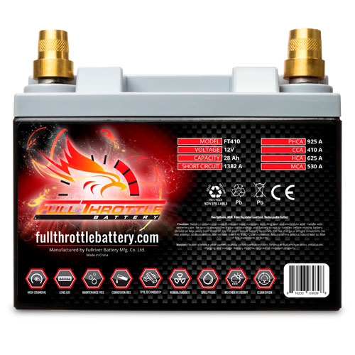 Full Throttle Series AGM Battery - FT410