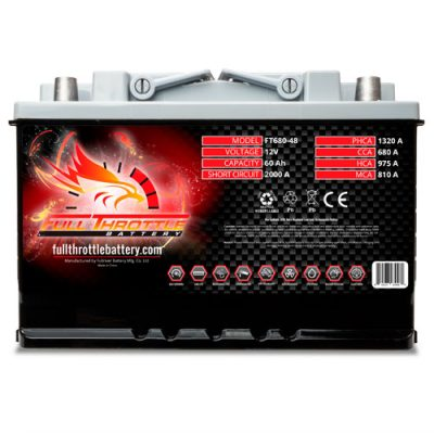 Full Throttle Series AGM Battery - FT680-48