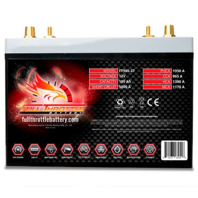 Full Throttle Series AGM Battery - FT965-27
