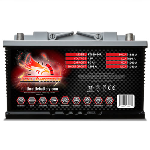 Full Throttle Series AGM Battery - FT850-94R