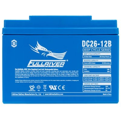 Fullriver DC Series AGM Battery - DC26-12