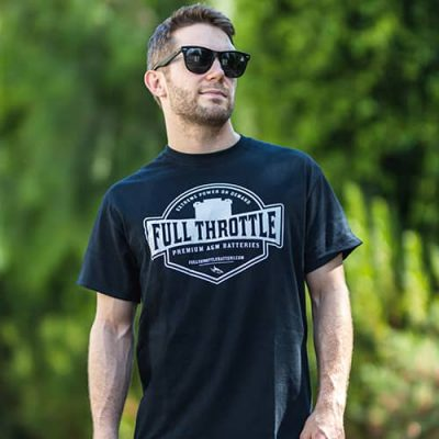 Premium AGM Batteries Shirt by Full Throttle Battery