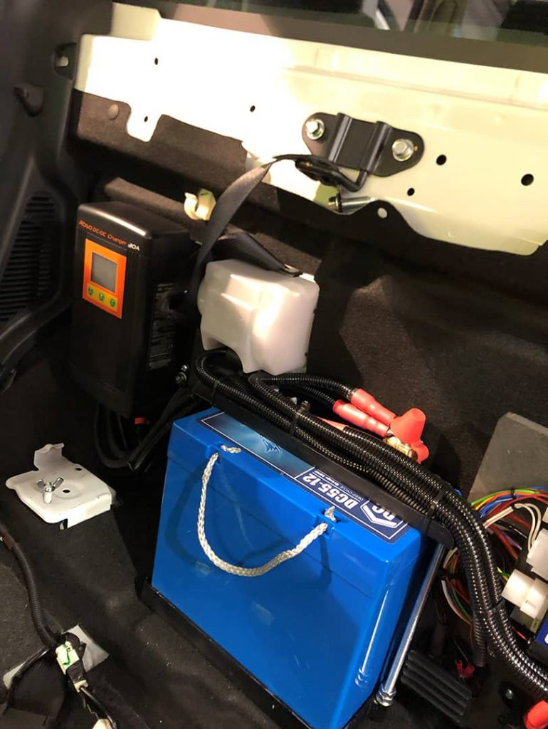 A Fullriver DC Series battery is installed in an HM Coastguard vehicle.