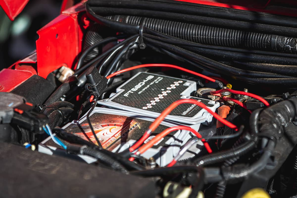 A Full Thottle battery is installed in David's Jeep in Sand Hollow State Park (Hurricane, Utah).