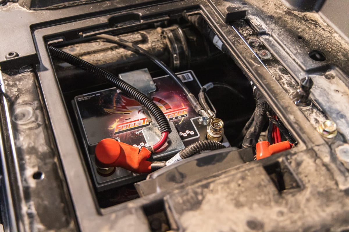 A Full Throttle battery is installed in the latest Project X build.
